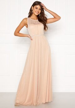 Moments New York Ophelia Lurex Gown Light pink Bubbleroom.se