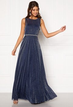 Moments New York Ophelia Lurex Gown Navy Bubbleroom.se