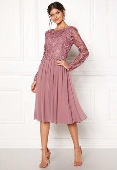Moments New York Primrose Crochet Dress Lilac Bubbleroom.se