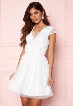 Moments New York Prudence Mesh Dress White Bubbleroom.se