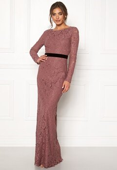 Moments New York Romy Lace Gown Old rose Bubbleroom.se