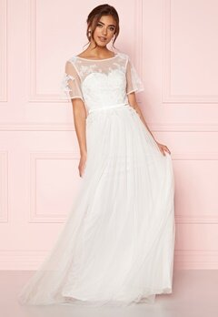 Moments New York Rosalie Wedding Gown White Bubbleroom.se