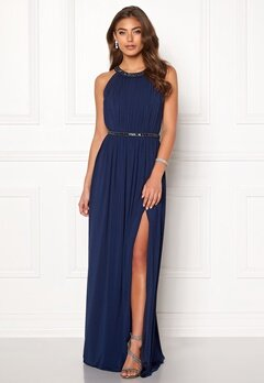 Moments New York Rose Draped Gown Dark blue Bubbleroom.se