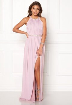 Moments New York Rose Draped Gown Dusty lilac Bubbleroom.se