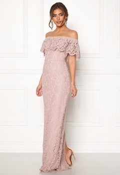 Moments New York Rose Lace Gown Dusty lilac Bubbleroom.se