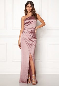 Moments New York Rosemary Satin Gown Lilac Bubbleroom.se
