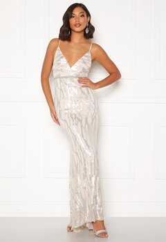 Moments New York Samantha Sequin Gown Champagne Bubbleroom.se