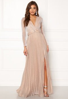 Moments New York Sienna Lurex Gown Champagne Bubbleroom.se
