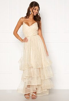 Moments New York Sophia Mesh Gown Champagne Bubbleroom.se
