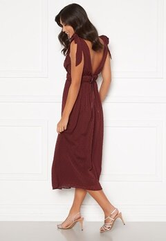 Moments New York Theodora Dotted Dress Wine-red Bubbleroom.se