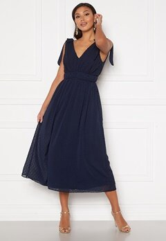 Moments New York Theodora Dotted Dress Dark blue Bubbleroom.se