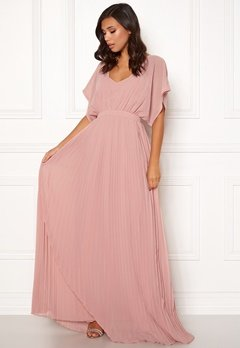 Moments New York Violet Chiffon Gown Dusty pink Bubbleroom.se