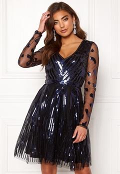 Moments New York Dana Beaded Dress  Black Bubbleroom.se