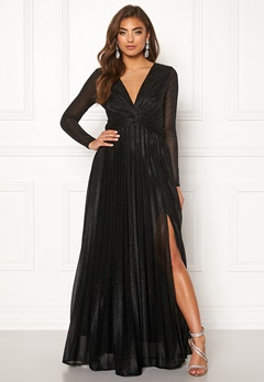 Moments New York Sienna Lurex Gown Black Bubbleroom.se