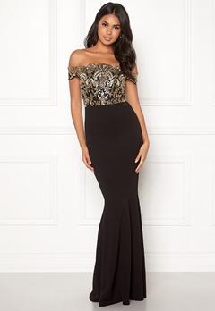 Moments New York Francine Sequin Gown Black / Gold Bubbleroom.se