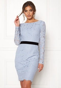 Moments New York Romy Lace Dress Grey-blue Bubbleroom.se