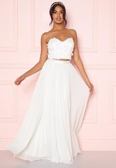 Moments New York Zaria Pleated Skirt White Bubbleroom.se