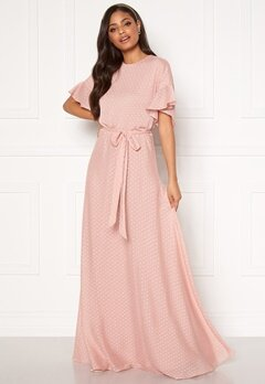 Moments New York Maja Dotted Gown Pink Bubbleroom.se