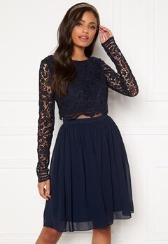 Moments New York Elinore Crochet Dress  Navy Bubbleroom.se