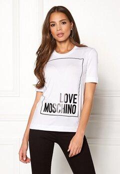 Love Moschino Moschino T-shirt Optical White Bubbleroom.se