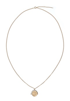 MUSE Zangenberg Long Necklace Mat Gold Bubbleroom.dk