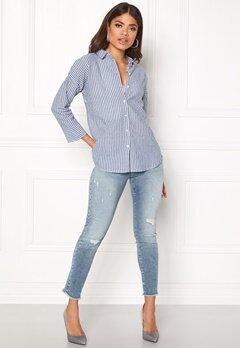 NÜMPH Charmayne Shirt Striped Blue Bubbleroom.dk