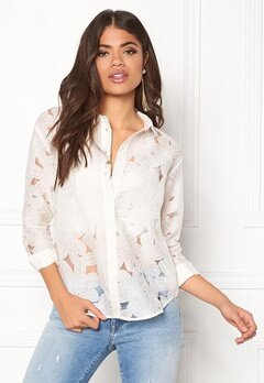 NÜMPH Laverne Shirt Pristine Bubbleroom.dk