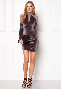 NaaNaa Choker Neck Bodycon Grey Bubbleroom.se