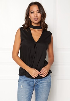 Rut & Circle Nadie Choker Wrap Top Black Bubbleroom.se