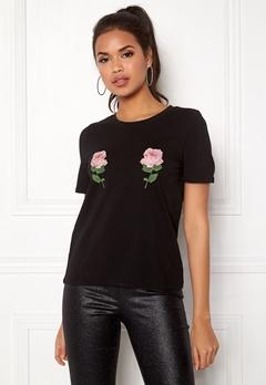 ONLY Nany S/S T-Shirt Black Bubbleroom.se