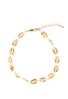 Pieces Nella Ancle Chain Gold Bubbleroom.se