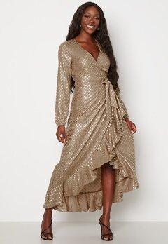 Guess New Baja Dress P16X Shiny Dots Gold bubbleroom.se