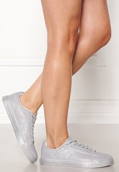 New Look All over Glitter sneakers Silver Bubbleroom.se