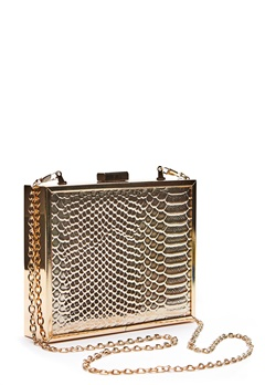 New Look Britney Box Clutch Gold Bubbleroom.fi