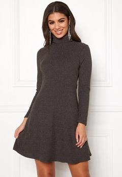 New Look Brushed Roll Neck Dress Mid Grey Bubbleroom.se
