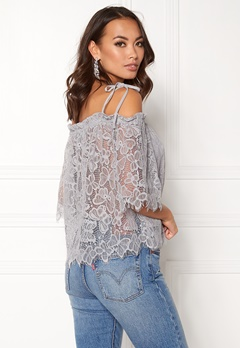 New Look Butterfly Lace Tie Strap Pale Grey Bubbleroom.fi