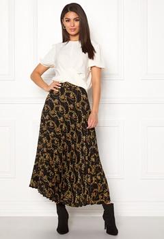 New Look Chain Print Pleat Skirt Black Pattern Bubbleroom.se