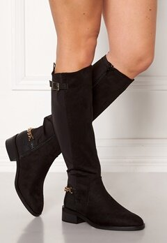 New Look Chain Riding Boots Black Bubbleroom.se