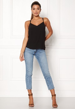 New Look Char Strappy Top Black Bubbleroom.fi