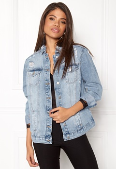 New Look Chezza Oversize Jacket Wedgewood Bubbleroom.se