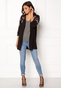 New Look Ciara Embroidered Kimono Black Bubbleroom.fi