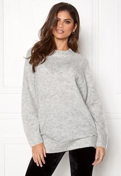 New Look Deep Raglan Knit Tunic Pale Grey Bubbleroom.se