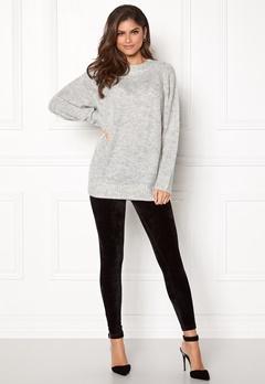 New Look Deep Raglan Knit Tunic Pale Grey Bubbleroom.fi