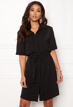 New Look Drawstring Shirt Dress Black Bubbleroom.se
