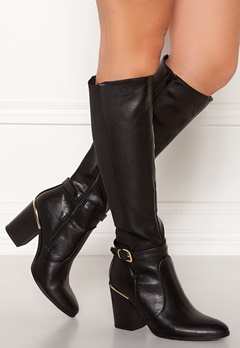 New Look Edwin Heeled Riding Boot Black Bubbleroom.se