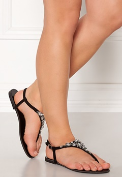 New Look Embellished Toe Sandal Black Bubbleroom.se