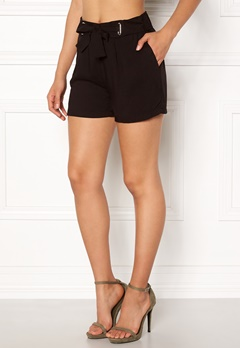 New Look Eyelet Tie Twill Short Black Bubbleroom.no