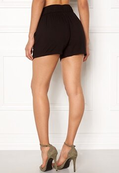 New Look Eyelet Tie Twill Short Black Bubbleroom.fi