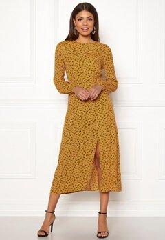 New Look Floral Split Mid Dress Yellow Pattern Bubbleroom.se