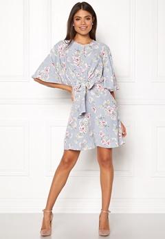 New Look Frances Floral Knot Dress Light Grey Bubbleroom.se